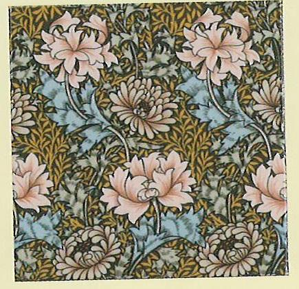 Chrysanthemum - englische Fliesen