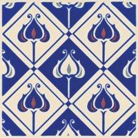 Baroque blau - Minton Hollins