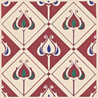 Baroque burgundy - Minton Hollins