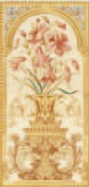 Handverzierte Fliesen - Lilien- englische Fliesen
