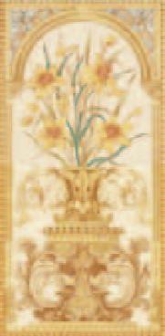 Handverzierte Fliesen - Narzisse - englische Fliesen