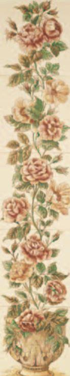 Handverzierte Fliesen - Rankende Rose - englische Fliesen