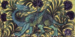 De Morgan - Drache- englische Fliesen