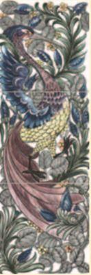 De Morgan - Exotischer Vogel- englische Fliesen