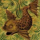 De Morgan - Fisch - englische - Minton Hollins
