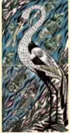 De Morgan - Vogel 2-teilig- englische Fliesen