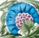 De Morgan - Einsatz blau- englische Fliesen
