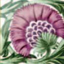 De Morgan - Einsatz pink- englische Fliesen