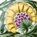De Morgan - Einsatz gelb- englische Fliesen