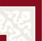 Hand Decorated Flooring - Paisley burgund- englische Fliesen