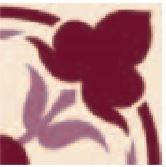 Hand Decorated Flooring - Floral burgund- englische Fliesen