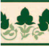 Hand Decorated Flooring - Floral grün- englische Fliesen