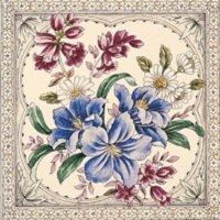 Blenheim elfenbein Farbe 150x150x8mm Minton Hollins