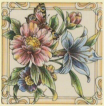 Butterfly - englische Fliesen