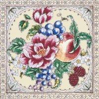 Kew Rose elfenbein Farbe - Minton Hollins