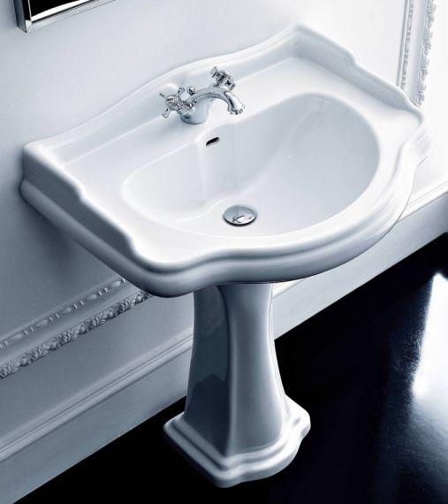 Groß - Retro Waschbecken mit Standfuß