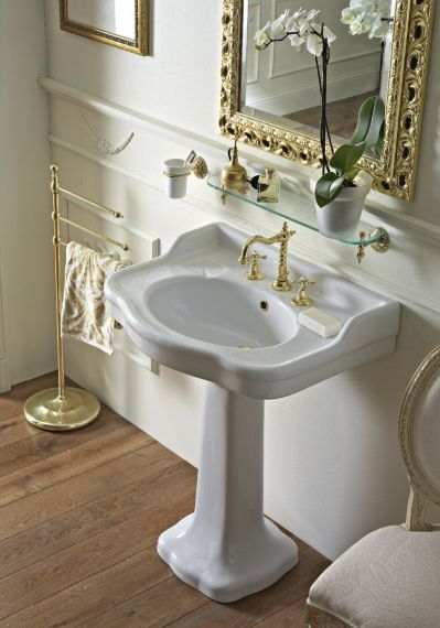 Waschbecken Palladio auf Standfuß - 70cm