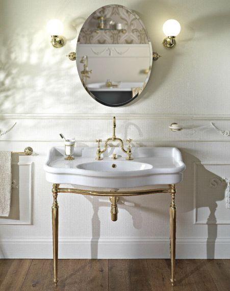 Waschbecken Palladio mit Metall Stand