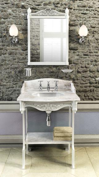 Carraramarmor - Waschbecken Burlington Geogian mit Waschstand