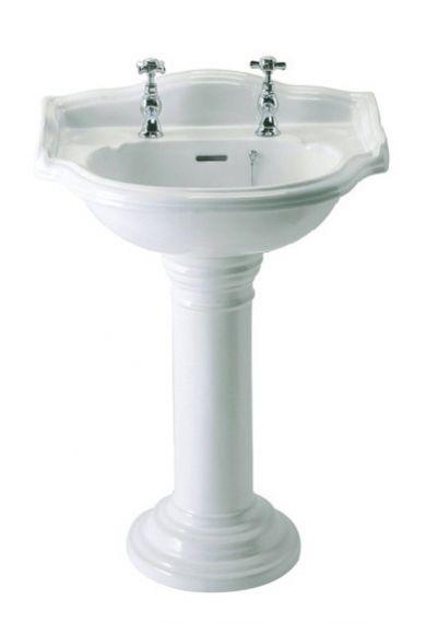 Traditionelles englisches Waschbecken mit Standfuß
