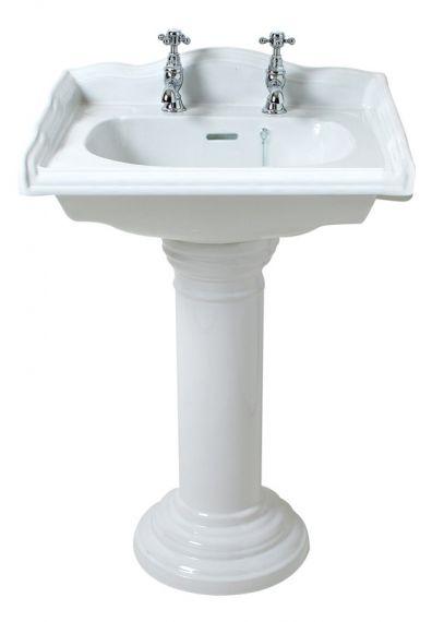 Englische Waschbecken traditionelles englisches quadratisches waschbecken mit standfuß
