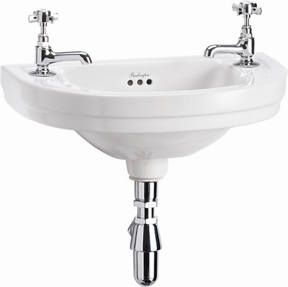 Gerundetes Waschbecken fürs Gästebad